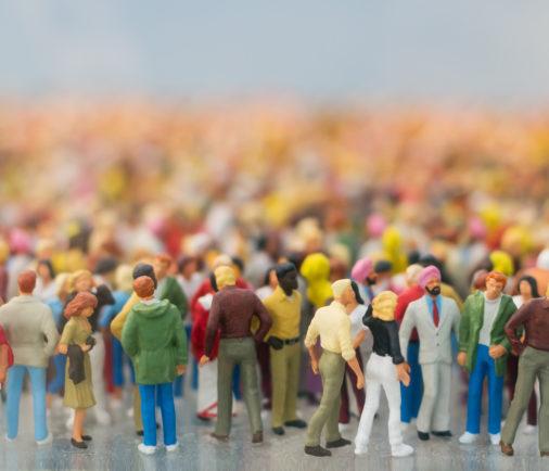 Menschenmengen Miniatur